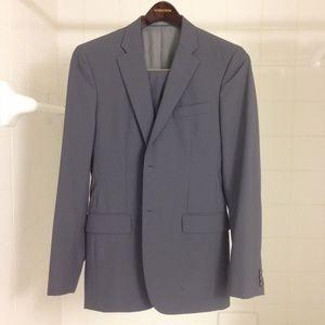 Jil Sander Solid Slate Gray Suit EU 44 (US 34R/L)